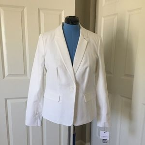 Liz Claiborne Collection White Blazer - size L NWT